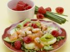 Berry, Salmon, and Prawn Salad recipe