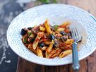 Black Olive and Tomato Penne recipe