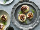 Blinis with Cream Cheese and Bacon recipe