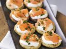Blinis with Smoked Salmon and Crème Fraîche recipe
