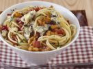 Blue Cheese and Pork Pasta Bowl recipe