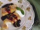 Blueberry Covered Cheese Blintzes recipe
