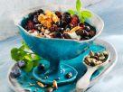 Blueberry Yogurt and Toasted Nut Parfaits recipe