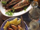 Braised Mullet and  Squid with Anchovy Herb Stuffing recipe