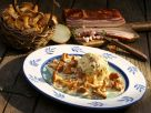 Bread Dumplings with Chanterelles and Bacon Sauce recipe