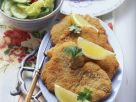Breaded Turkey Cutlets with Mixed Salad recipe