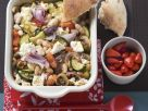 Broad Beans with Feta Cheese and Vegetables recipe