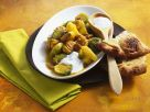 Brussels Sprouts and Chestnuts with Minted Yogurt recipe
