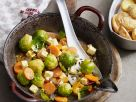 Brussels Sprouts with Cheese and Apricots recipe