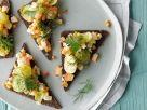 Brussels Sprouts with Fruit on Pumpernickel Toast recipe