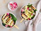 Buckwheat Bowl with White Asparagus Skewers recipe