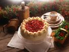 Buckwheat Layer Cake with Whipped Cream and Lingonberries recipe
