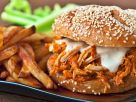 Buffalo Sauce Chicken and Blue Cheese Sandwiches recipe