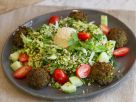 Bulgur Herb Kale Salad with Falafel recipe