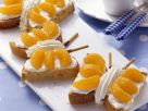 Butterfly Cake with Marzipan and Mandarins recipe
