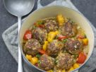 Butternut Squash Chili with Meatballs recipe