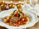 Carp Fillets with Pepper Sauce and Potato Croquettes recipe