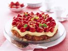 Carrot Cake with Vanilla Topping and Strawberries recipe