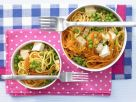 Carrot Udon Stew with Peas recipe