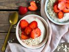 Cashew Mousse with Strawberries recipe