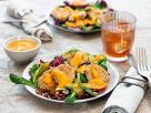 Cauliflower Nuggets on Salad with Persimmon Dressing recipe