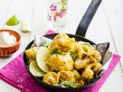 Cauliflower Pakoras with Mint and Lime recipe