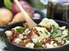 Cauliflower, Rainbow Chard, Bacon and Roasted Almond Salad recipe