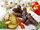 Cevapcici with Grilled Potatoes recipe