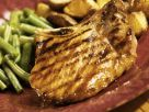 Charred Chops with Green Beans recipe