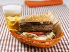 Cheddar Burgers with Homemade Chips recipe