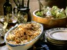Cheese Spaetzle with Fried Onions and Salad recipe