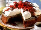 Cherry Cake with Cheese Topping recipe