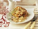 Chestnut Crepes with Mushroom Sauce and Rosemary recipe