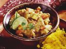 Spiced Indian Curry with Garnish recipe