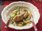 Chicken in White Wine with Kohlrabi and Carrots recipe
