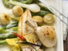 Chicken in White Wine with Spring Vegetables recipe