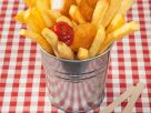 Chicken Nuggets with French Fries recipe