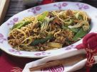 Chinese-Style Noodles with Ground Pork and Vegetables recipe