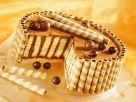 Chocolate Cake with Wafer Rolls recipe