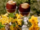 Chocolate Eggs with Custard Filling recipe