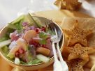 Christmas Beet and Herring Salad with Sesame Toast recipe