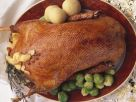 Christmas Roast Goose with Dumplings and Brussels Sprouts recipe