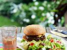 Classic Burgers with Bacon Salad recipe