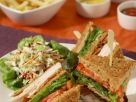 Club Sandwich with Coleslaw recipe