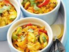 Coconut Chicken with Peppers and Zucchini recipe