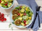 Cod Cakes with Potato Salad recipe