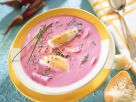 Cold Beet Soup with Hard Boiled Eggs (Chlodnik) recipe