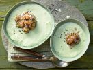 Cold Cucumber Soup with Salmon Tartare recipe