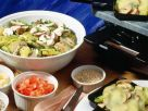 Colorful Potato and Mushroom Raclette recipe