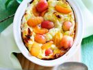 Quark Pudding with Gooseberries and Apricots recipe